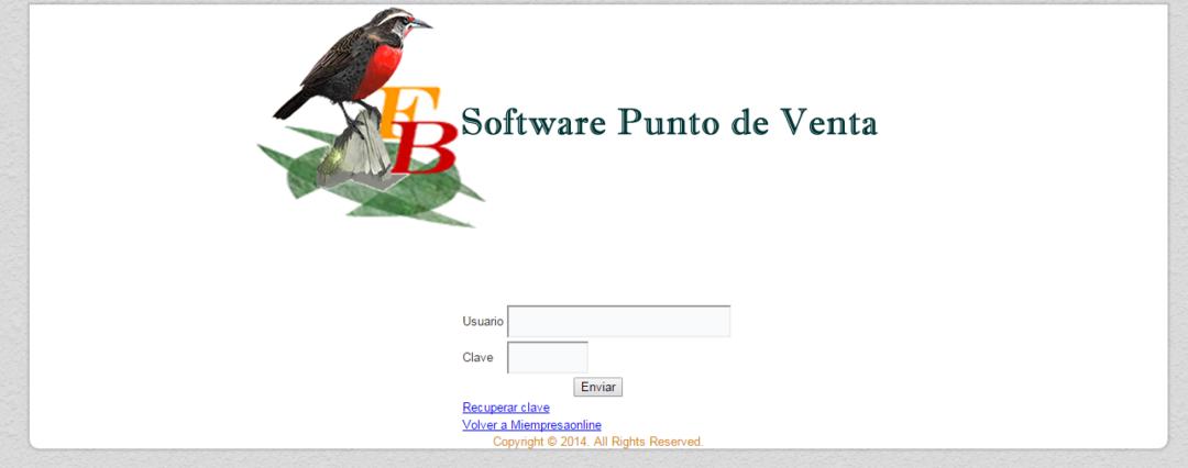 Software de inventario y punto de venta (no vinculado a l SII)
